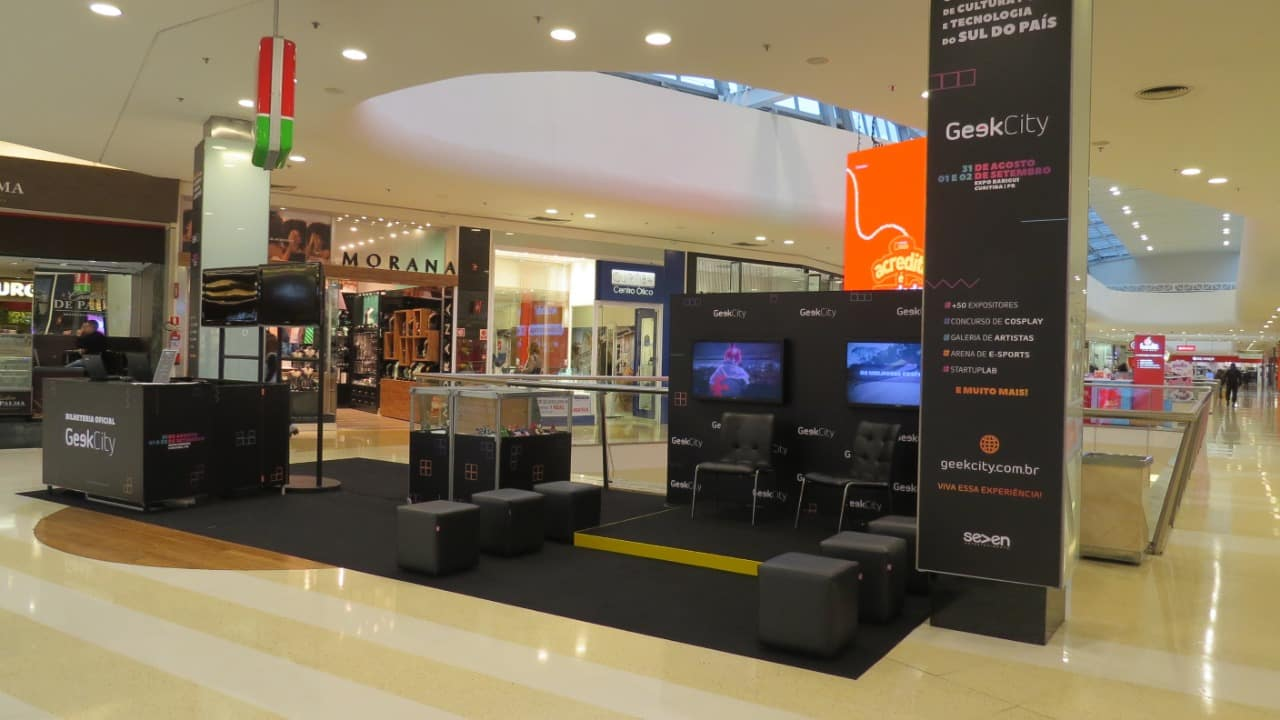 Maior evento do universo geek da região sul do Brasil, o Geek City, conta com espaço especial no Park Shopping Barigui em Curitiba.