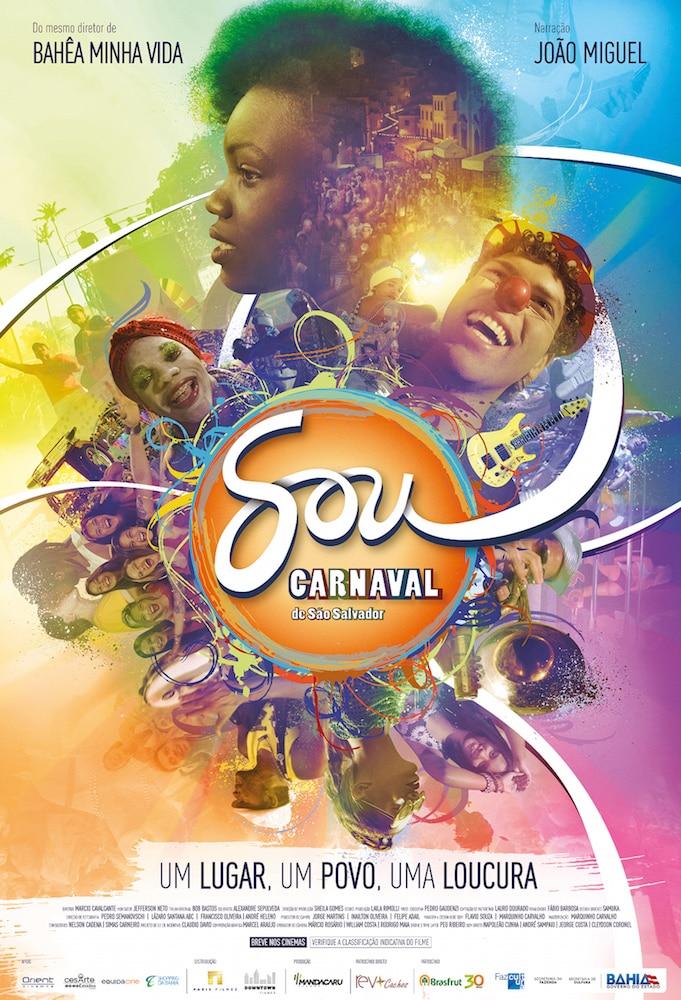 Foliões são destaque em colorido pôster do documentário Sou Carnaval de São Salvador 2