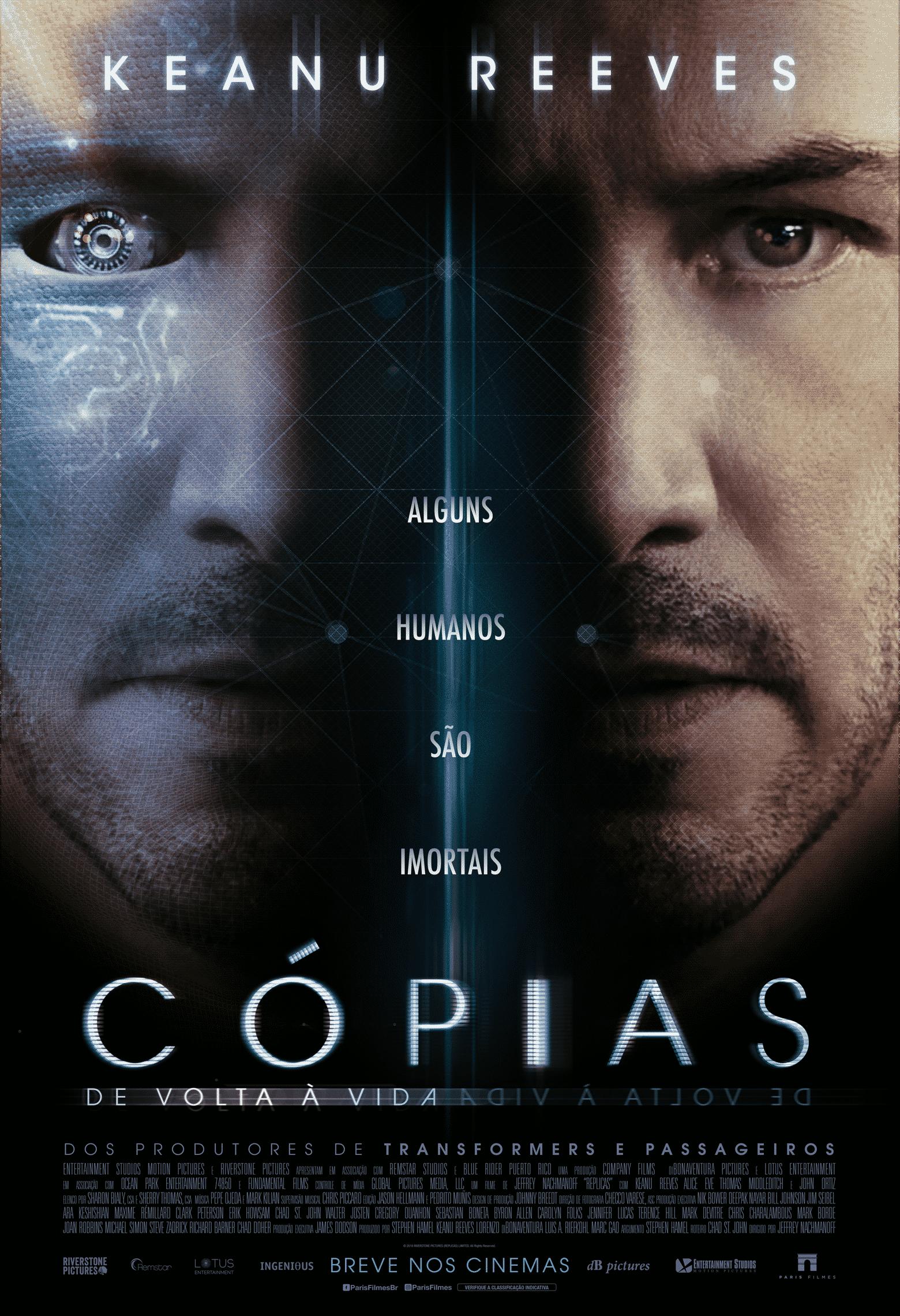 Nova ficção científica com Keaunu Reeves, Cópias – De Volta à Vida, ganha trailer e poster
