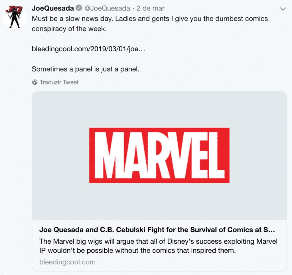 Joe Quesada desmente o rumor sobre a Disney fechar a Marvel Comics 2