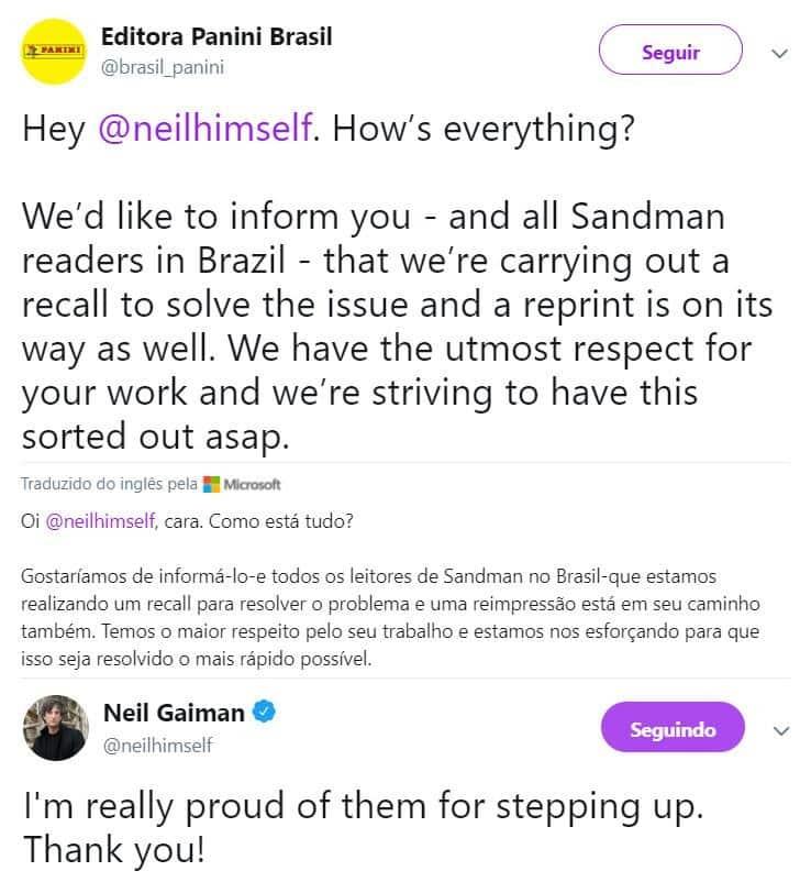 Panini se redime com Neil Gaiman? 1
