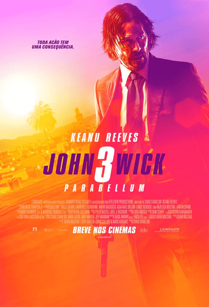 Pôster final de John Wick 3 - Parabellum: cores indicam nova fase do personagem 2