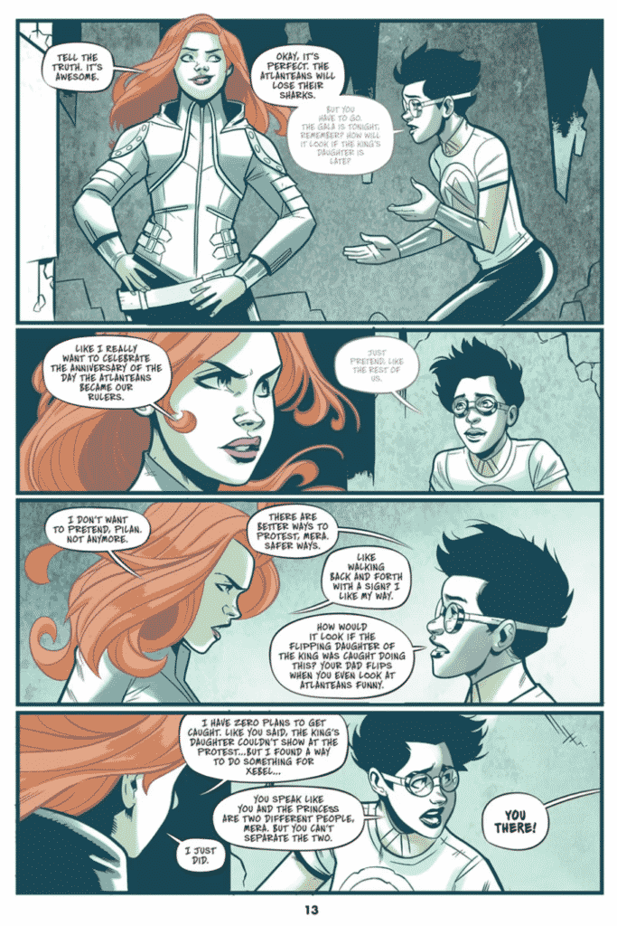 Stephen Byrne divulga primeiras imagens de Mera: Tidebreaker, primeira graphic novel do selo DC Ink 3
