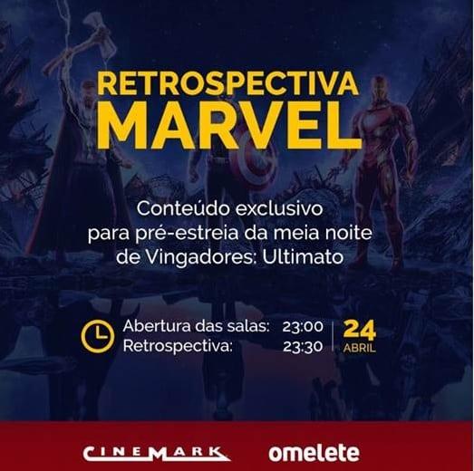 Cinemark anuncia Retrospectiva Marvel nas sessões de pré-estreia de Vingadores: Ultimato 2