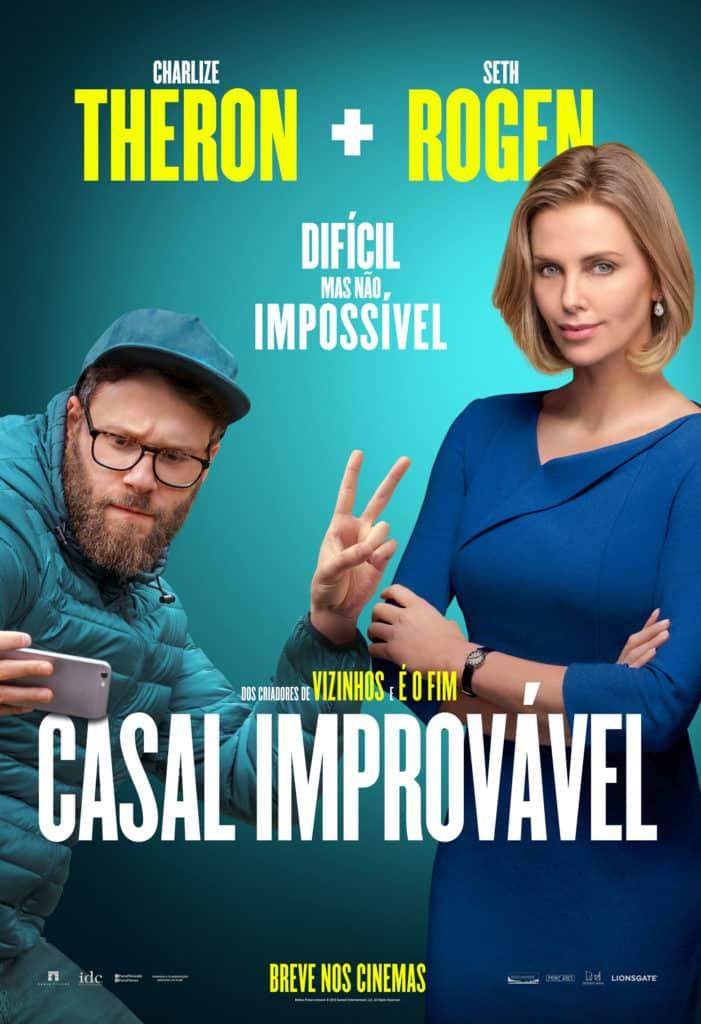 Seth Rogen e Charlize Theron juntos no poster final nacional de Casal Improvável 2