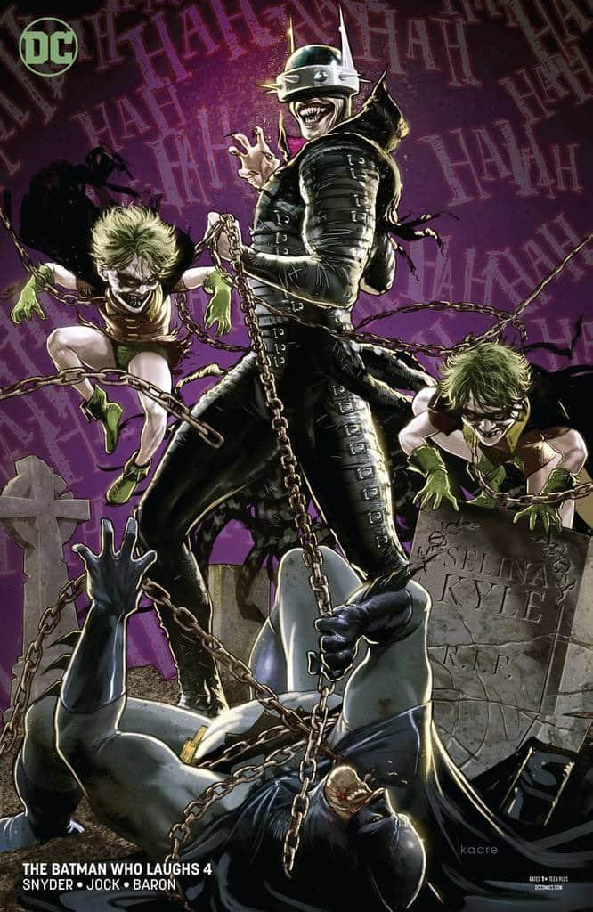 Scott Snyder divulga nova Capa de HQ do Batman Que Ri 1