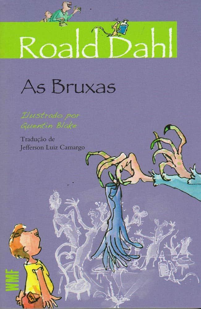 Capa do livro As Bruxas de Roald Dahl pela Editora Martins Fontes