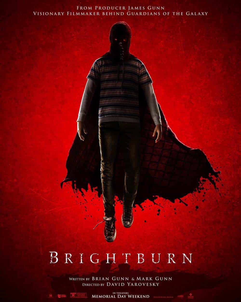 Poster do filme Brightburn - Filho das Trevas, com produção de James Gunn