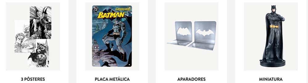 Brindes disponibilizados aos assinantes da coleção A Lenda do Batman da Planeta DeAgostini