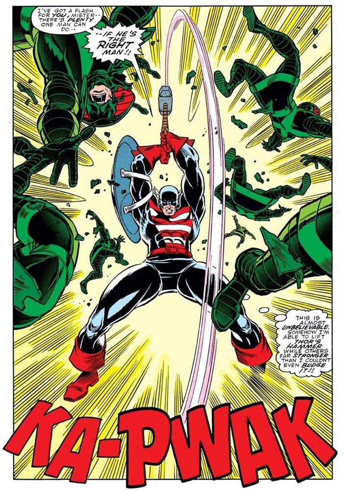 O Capitão América é digno do Mjölnir? 1