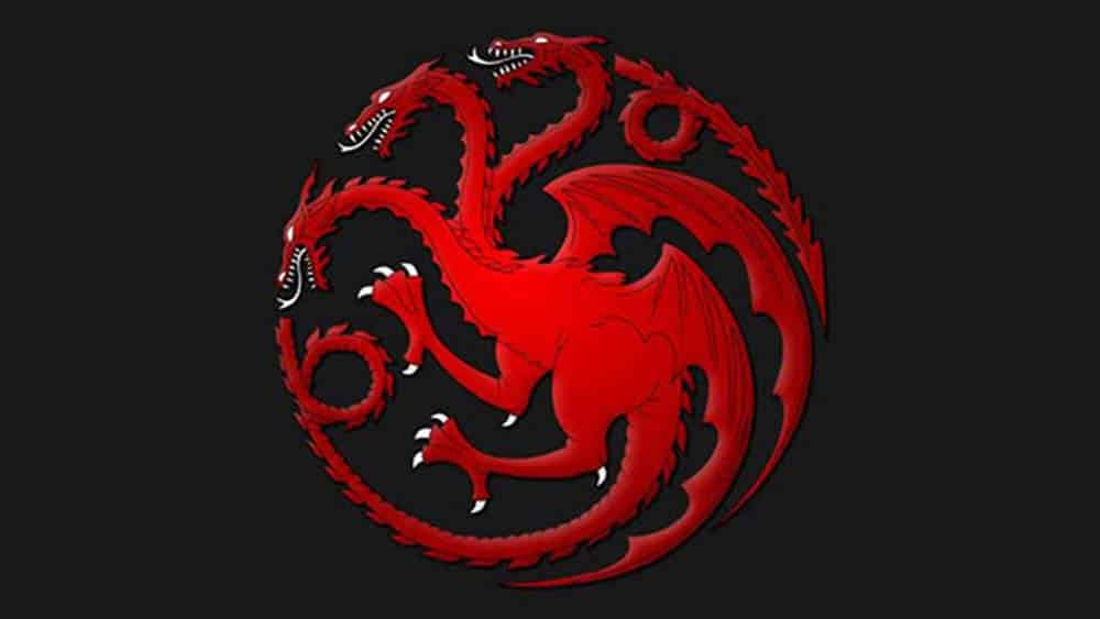 Brasao da casa Targaryen dos livros de George R. R. Martin - As Crônicas de Gelo e Fogo