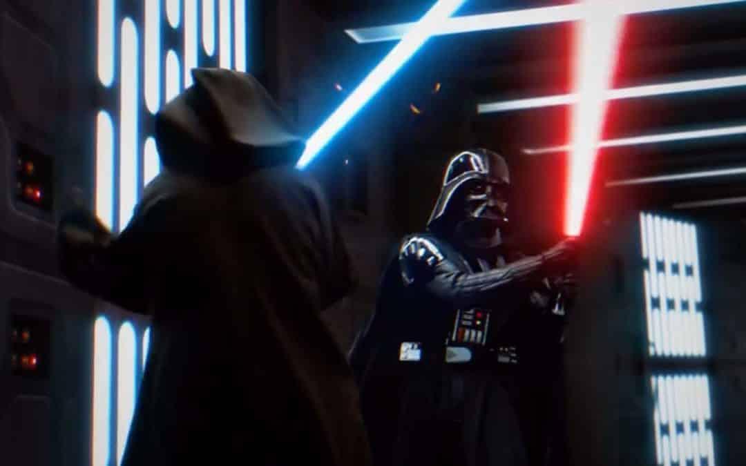 Duelo entre Obi-Wan Kenobi e Darth Vader em Star Wars: Episódio IV – Uma Nova Esperança é reeditado