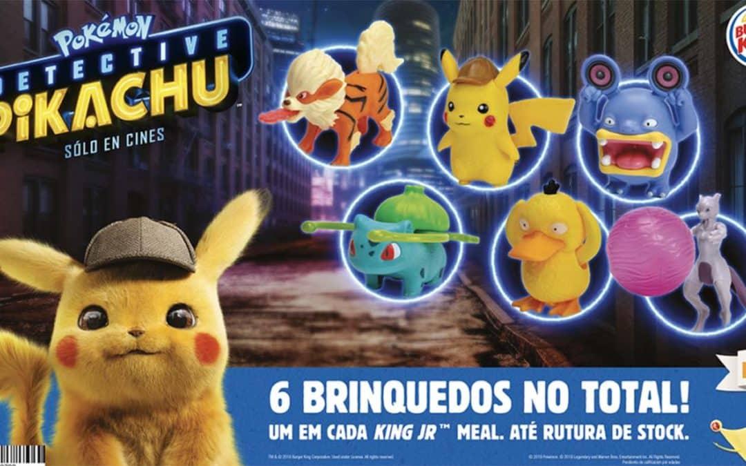 Divulgados brindes do Burger King Brasil inspirados em Detetive Pikachu