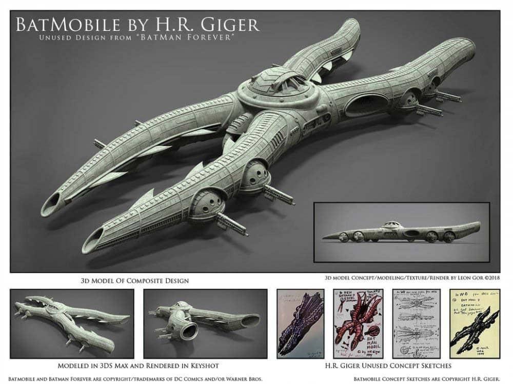 """Confira o Batmóvel de H.R. Giger, criador do design da série """"Alien"""" 7"""