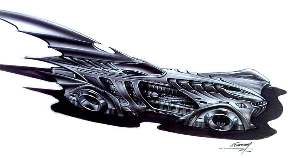 """Confira o Batmóvel de H.R. Giger, criador do design da série """"Alien"""" 2"""