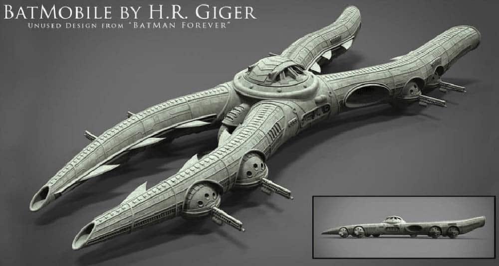 """Confira o Batmóvel de H.R. Giger, criador do design da série """"Alien"""" 4"""