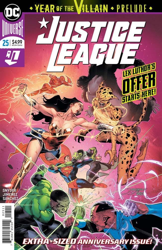 Capa da revista Justie League #25