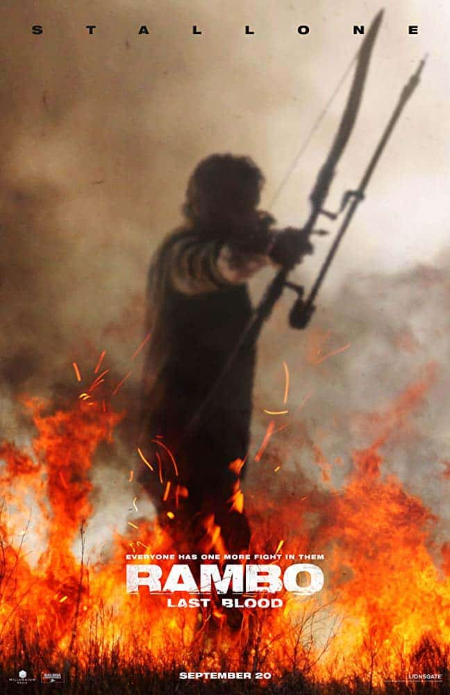 Poster de Rambo Last Blood com Sylvester Stalonne