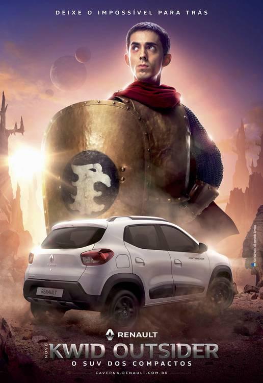 Poster da campanha Kwid Outsider inspirado em Caverna do Dragão da Renault