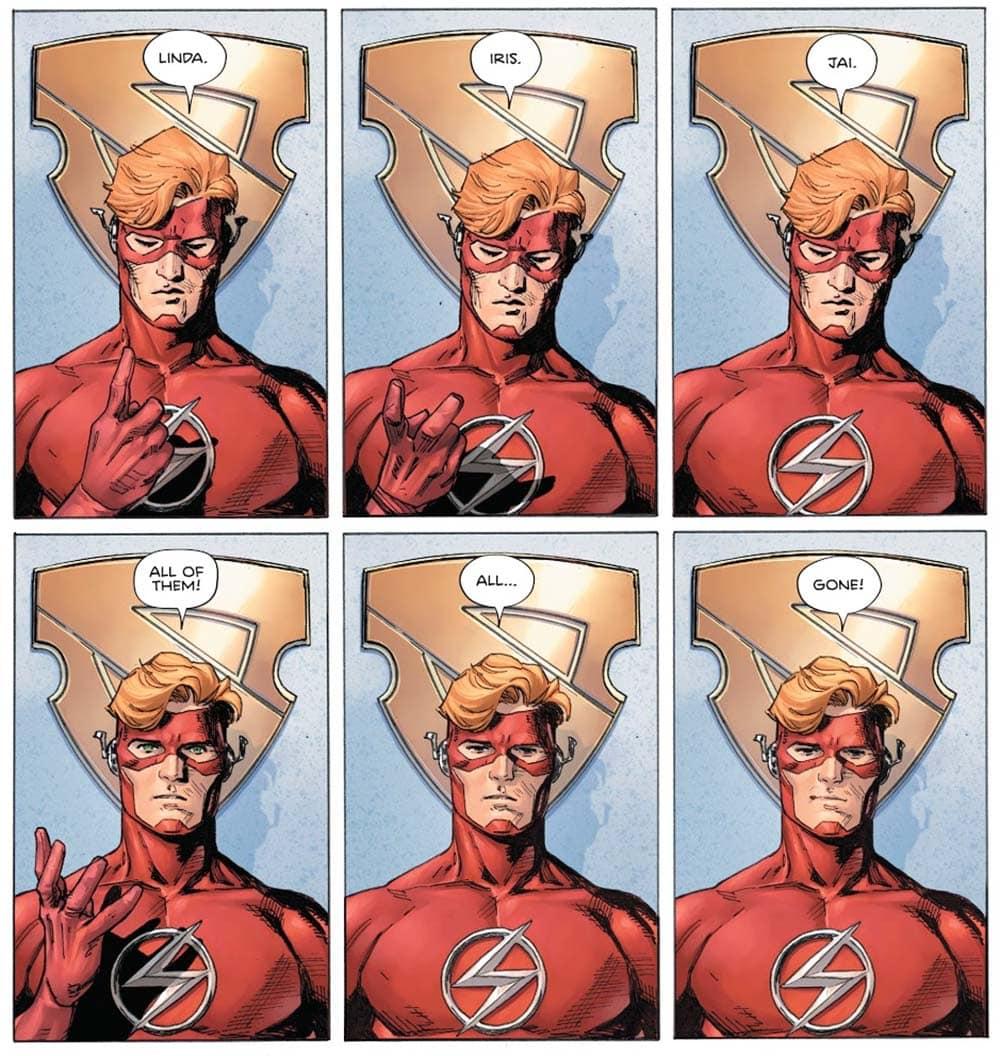 Wally sente falta da Família na HQ Heróis em Crise de Tom King para a DC Comics