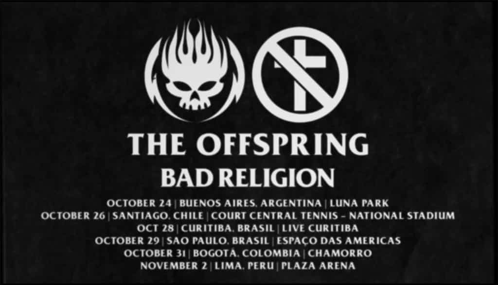 The Offspring e Bad Religion confirmam data em Curitiba 2