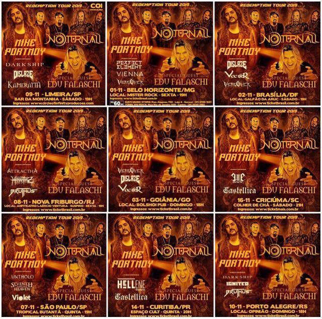 O lendário baterista Mike Portnoy estará em Curitiba em turnê conjunta com o Noturnall 4