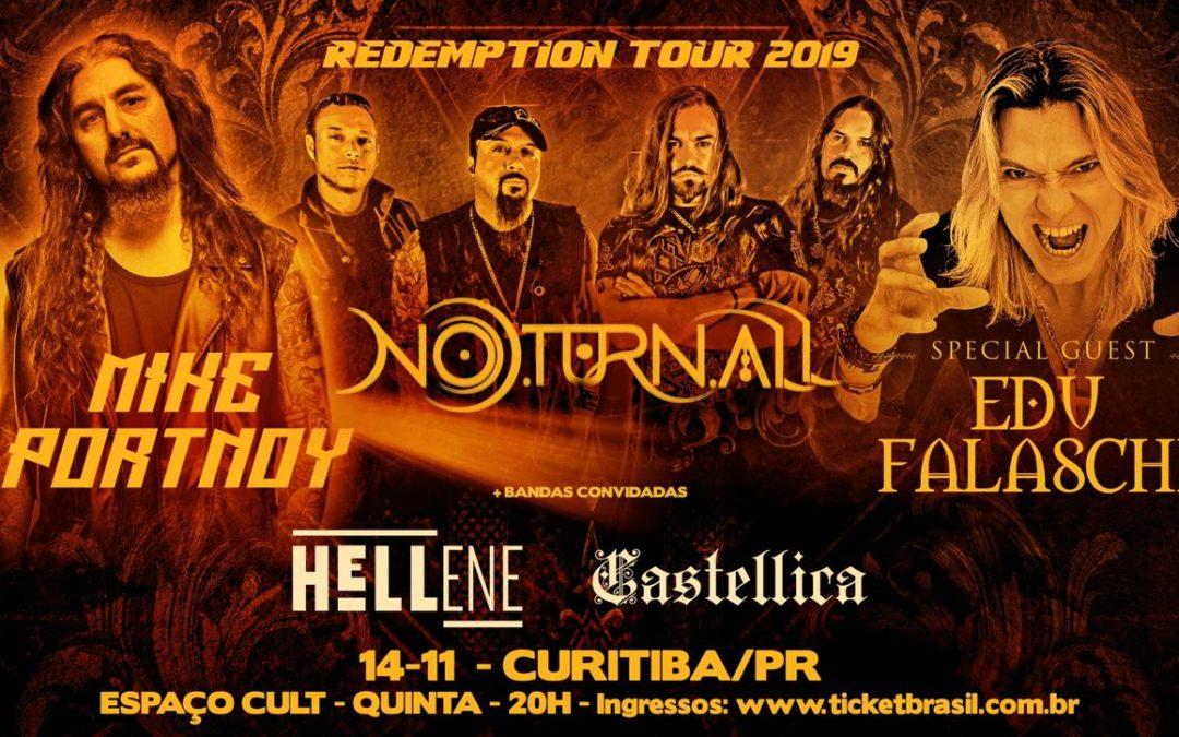 O lendário baterista Mike Portnoy estará em Curitiba em turnê conjunta com o Noturnall