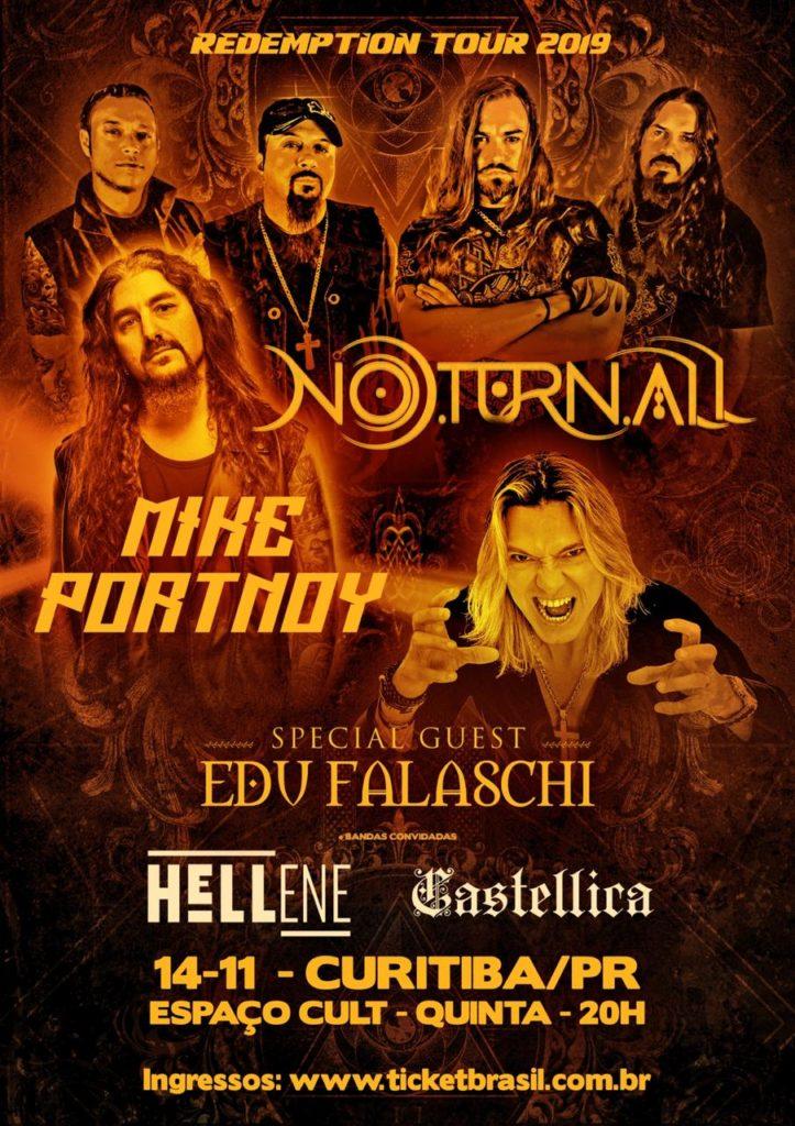O lendário baterista Mike Portnoy estará em Curitiba em turnê conjunta com o Noturnall 3