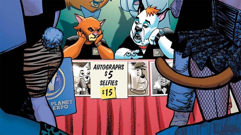 Jambo e Ruivão em imagem de HQ da Hanna-Barbera pela DC Comics