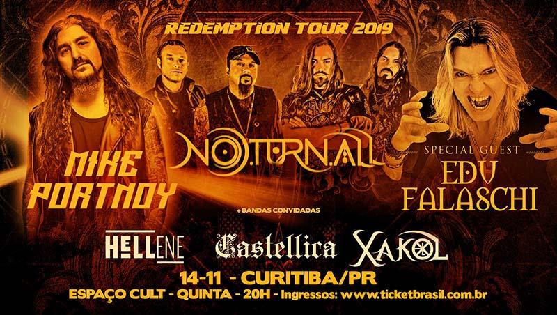 Saiba como foi Mike Portnoy, Noturnall & Edu Falaschi em Curitiba 2