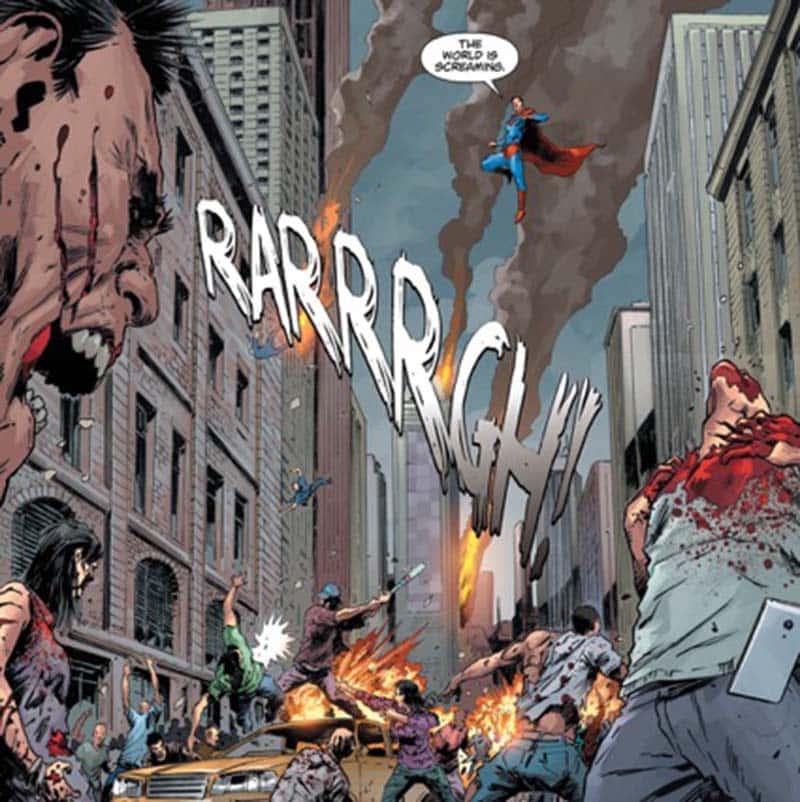 Superman tenta salvar a todos em DComposicao