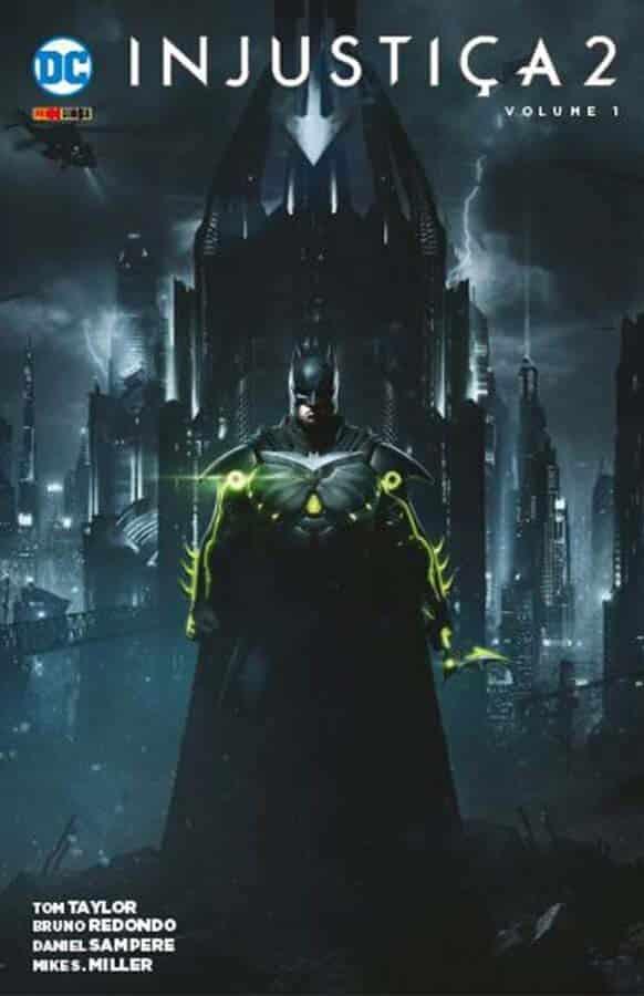 Batman na capa de Injustica 2 da Panini