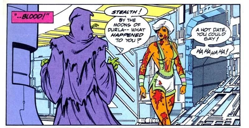 Furtiva e o Durlaniano são dois interessantes personagens da L.E.G.I.Ã.O. de Vril Dox.