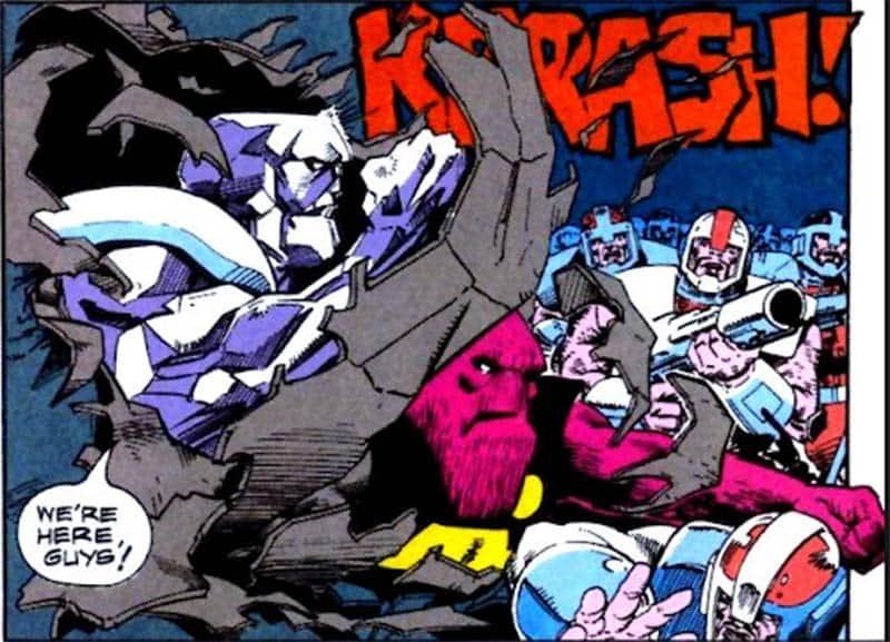 Strata e Garv em ação nas páginas de L.E.G.I.Ã.O. da DC Comics