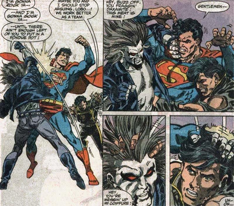 A L.E.G.I.Ã.O. de Vril Dox enfrenta o Superman em uma das únicas aventuras que se passa na Terra