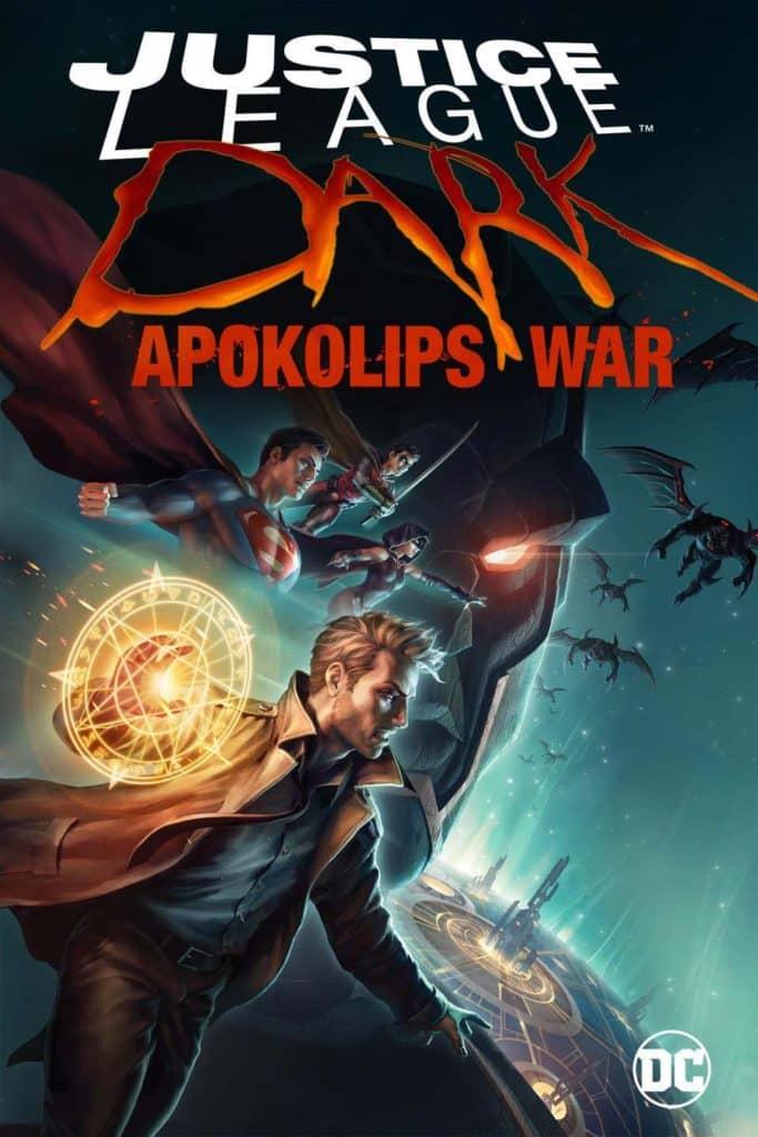 Constantine, Superman e outros personagens em poster de Liga da Justica Sombria Guerra de Apokolips