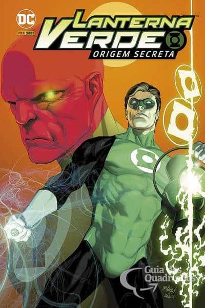 Capa de Lanterna Verde Origem Secreta com Hal Jordan e Abin Sur