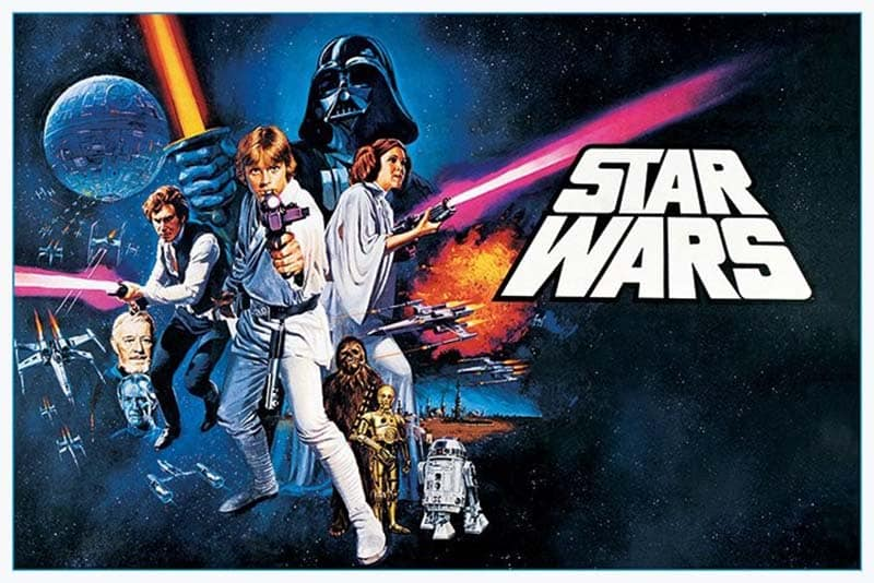 Poster de star wars uma nova esperança de 1977