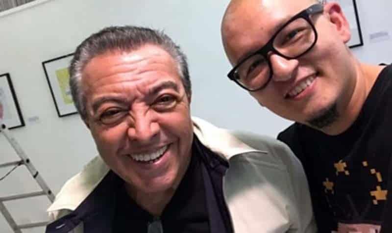 Bruno Honda Leite e Mauricio de Sousa