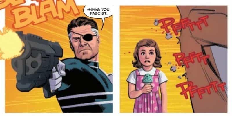 Nick Fury em Homem-Aranha Corrente
