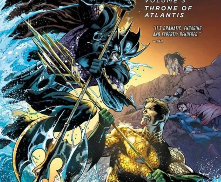 melhores histórias da liga da justiça - Trono de Atlântida