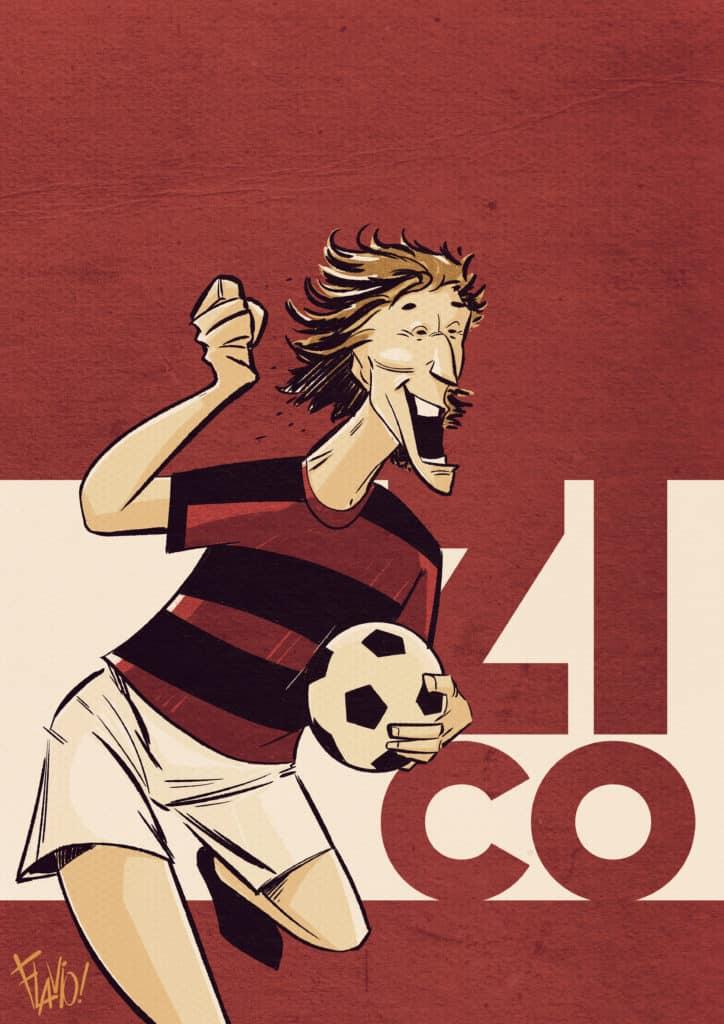 Zico 50 anos de futebol em quadrinhos teaser