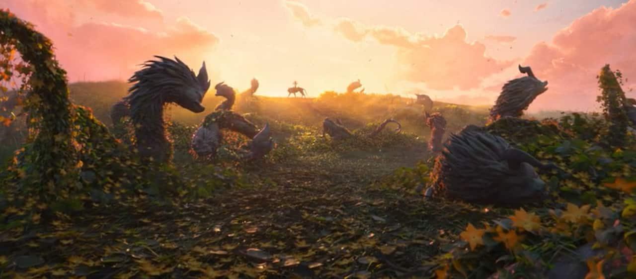 cenários incríveis em Raya e o último dragão