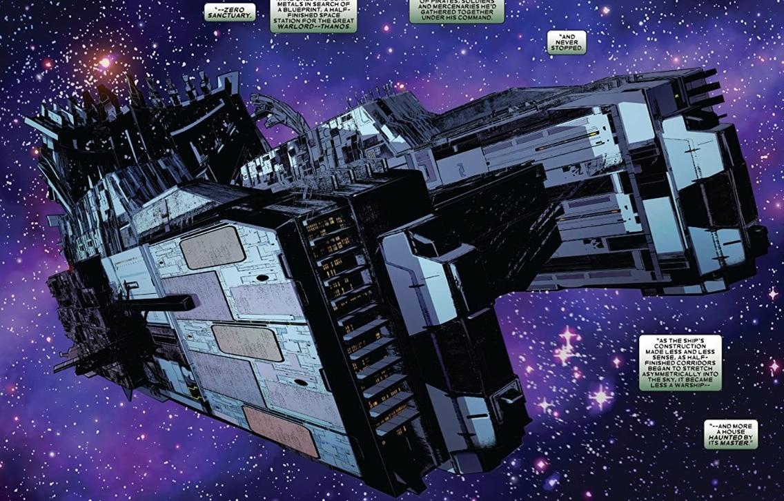 santuário zero é o local escolhido por Thanos para seus planos malignos