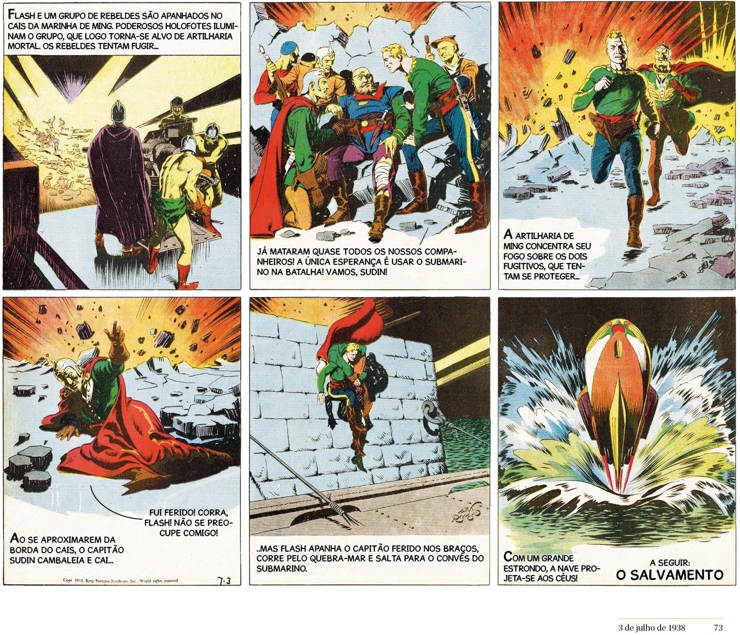 as tiras dominicais de Flash Gordon