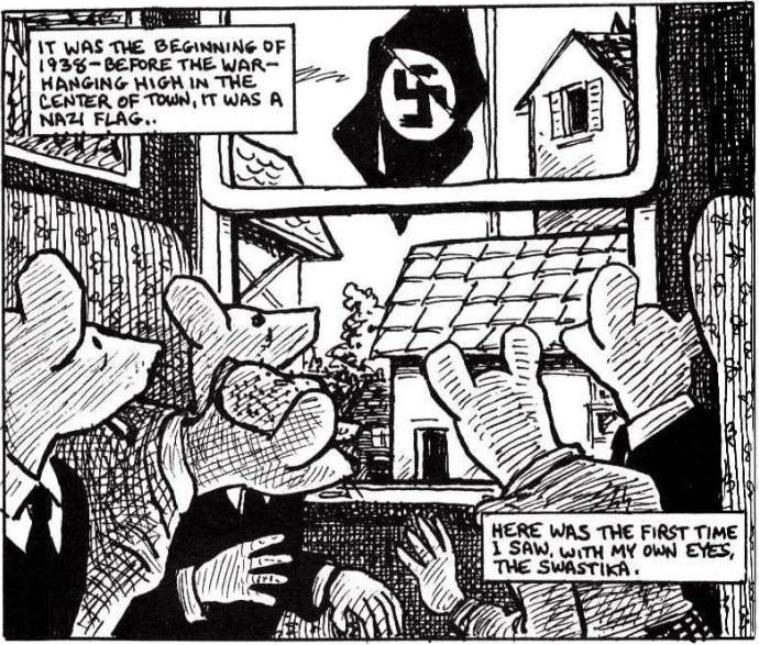 maus utiliza a metalinguagem para contar a historia e o nazismo
